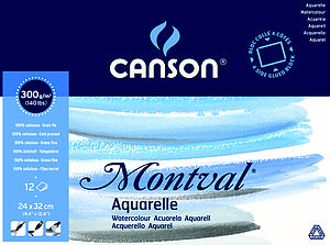 CANSON MONTVAL 300GR - 24X32 - 12V.