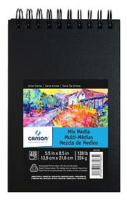 CANSON ARTBOOK MIXED MEDIA 224GR - 13.9X21.6 - 40V.