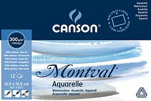 CANSON MONTVAL 300GR - 10.5X15.5 - 12V.