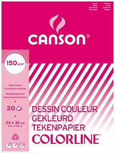 CANSON COLORLINE 150GR - 24X32 - 20V.