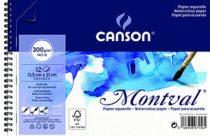 CANSON MONTVAL 300GR - 13.5X21 - 12V.