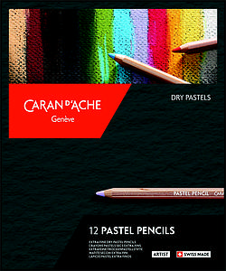 CARAN D'ACHE PASTEL PENCILS SET - 12 STUKS