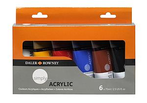 DALER-ROWNEY SIMPLY SET - 6 X 75ML