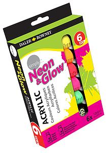 DALER-ROWNEY SIMPLY – NEON&GLOW SET 6 X 12ML