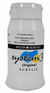 DALER-ROWNEY SYSTEM3 500ML - 006 MIXING ZINK WIT