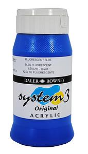 DALER-ROWNEY SYSTEM3 500ML - 100 FLUO BLAUW