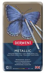 DERWENT METALLIC WATERCOLOUR SET - 12 STUKS