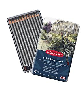 DERWENT GRAPHITINT PENCILS SET - 12 STUKS