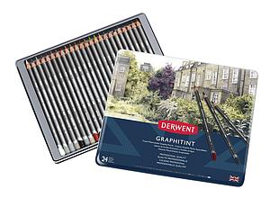 DERWENT GRAPHITINT PENCILS SET - 24 STUKS