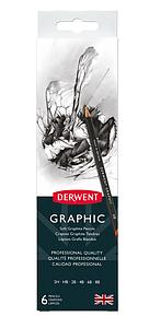 DERWENT GRAPHIC PENCILS SET - 6 STUKS