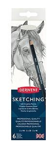 DERWENT SKETCHING PENCILS SET - 6 STUKS