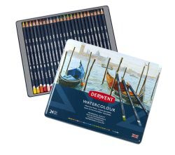 DERWENT WATERCOLOUR SET - 24 STUKS