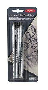 DERWENT WATERSOLUBLE GRAPHITONE BLISTER SET - 4 STUKS
