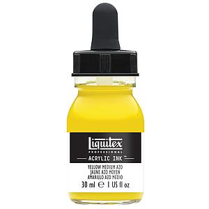 ACRYLIC INK - 30ML - 412 YELLOW MEDIUM AZO