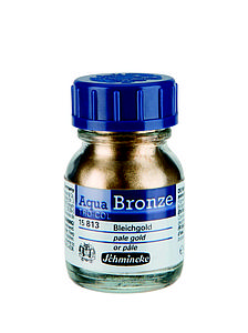 SCHMINCKE AQUA-BRONZE 20ML - 813 BLEEK GOUD