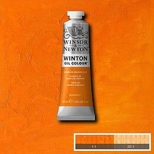 W&N WINTON OIL COLOUR 37ML - 090 CADMIUMORANJE TINT