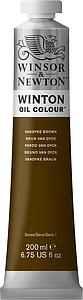 W&N WINTON OIL COLOUR 200ML - 676 VAN DIJCK BRUIN