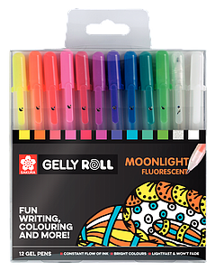 GELLY ROLL SET MOONLIGHT FLUO - 12ST