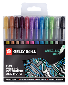 GELLY ROLL SET METALLIC - 12ST