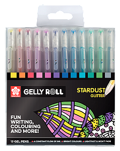 GELLY ROLL SET STARDUST GLITTER - 12ST