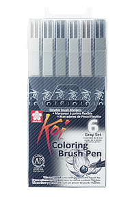 KOI COLORING BRUSH URBAN SET - 6ST