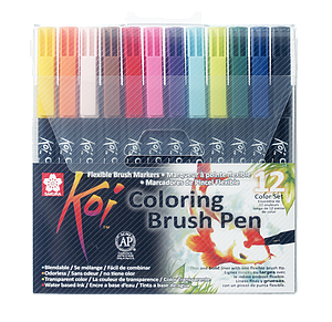KOI COLORING BRUSH COLOR SET - 12ST