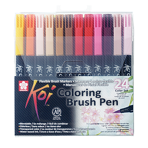KOI COLORING BRUSH COLOR SET - 24ST
