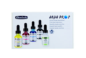 SCHMINCKE AQUA DROP - SET 4X30ML + 1X MEDIUM