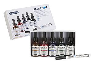 SCHMINCKE AQUA DROP SET 5X30ML +LINER